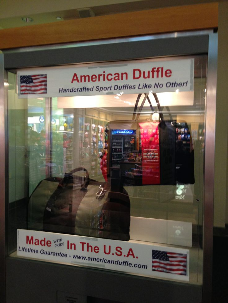 American Duffle on display at Providence, RI airport.