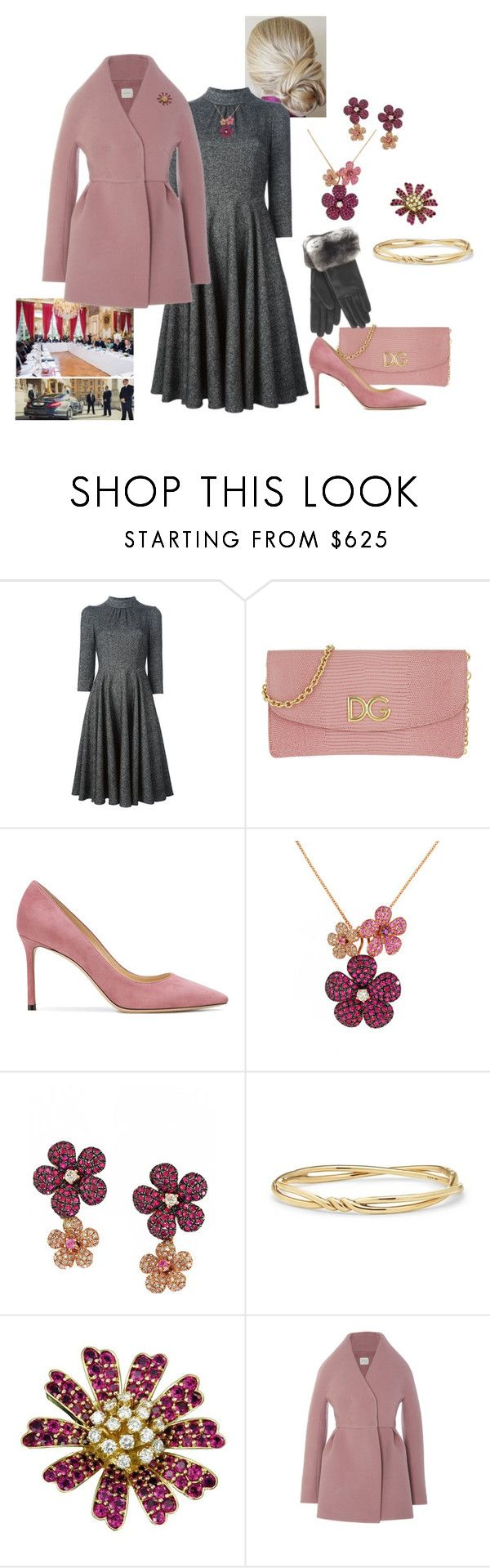 """Queen Rose attends a seminar on Antimicrobial Resistance"" by hm-queen-rose ❤ liked on Polyvore featuring Dolce&Gabbana, Jimmy Choo, Effy Jewelry, David Yurman and Delpozo"