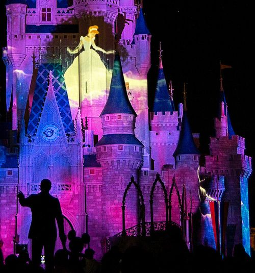 "Have you seen ""Celebrate the Magic,"" the projection show that lights up Cinderella's Castle at the Magic Kingdom? #DisneyWorld"