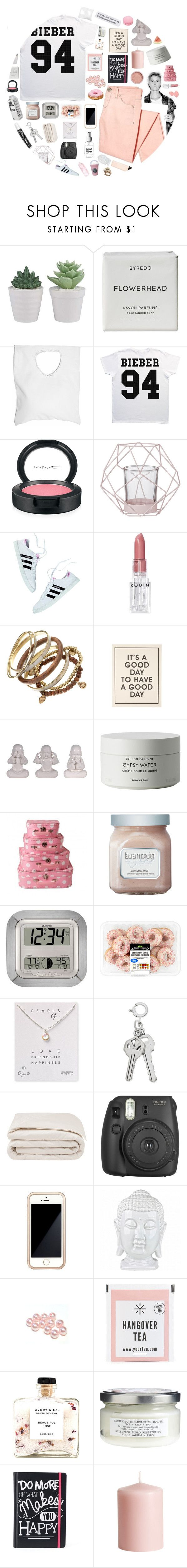 """""""pretty french words."""" by a-million-dreams ❤ liked on Polyvore featuring Byredo, Jennifer Haley, Pyrex, MAC Cosmetics, Chapstick, Bloomingville, Rodin, Justin Bieber, Miss Selfridge and Laura Mercier"""