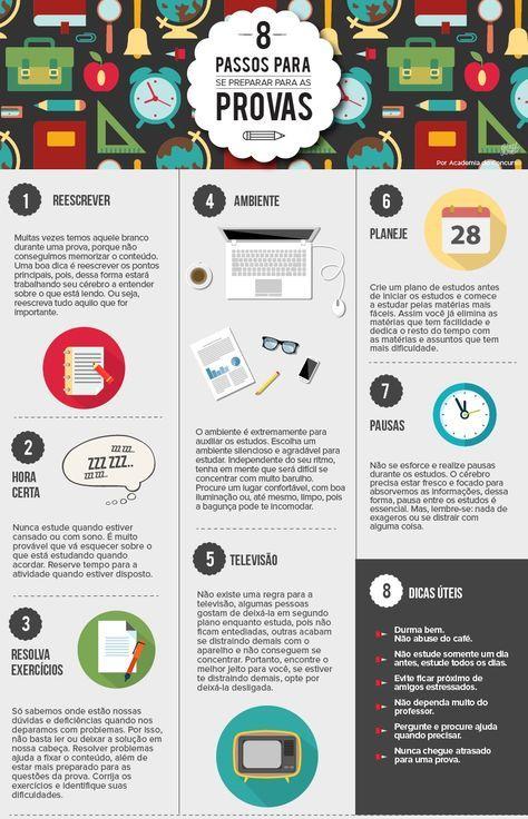 8 passos para se preparar para as provas