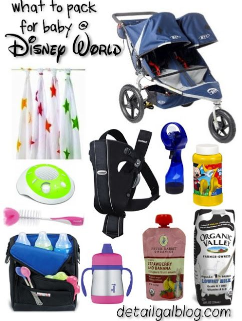 Disney World with a Baby or Toddler tips  What to Pack for Disney with baby