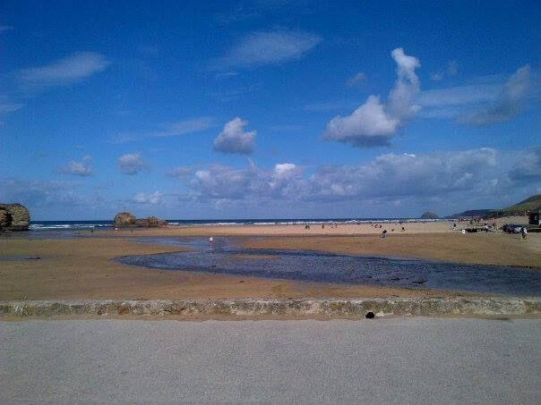 Perranporth Beach in Perranporth, Cornwall