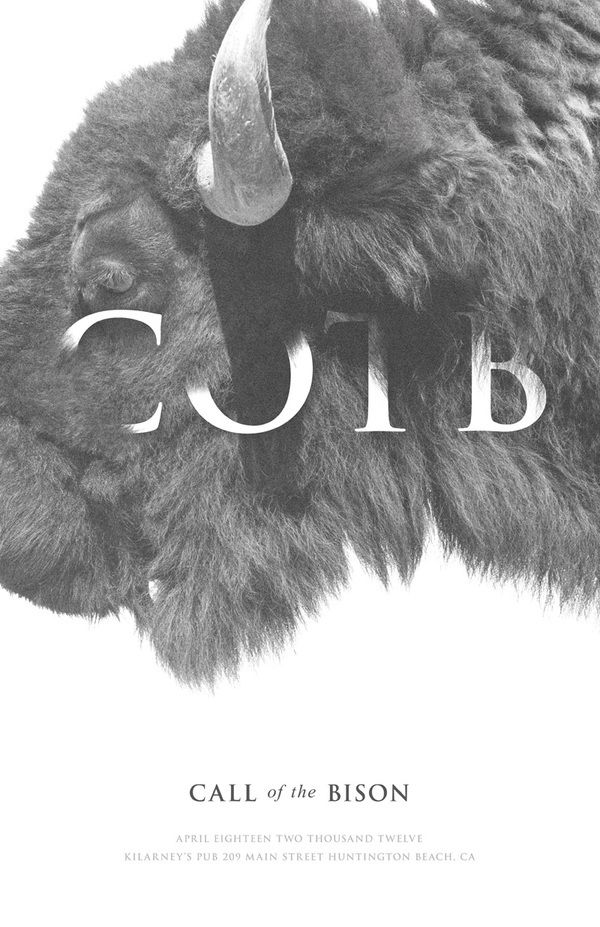 """Graphic Design / Poster Inspiration / """"Call Of The Bison"""" Poster on Behance"""