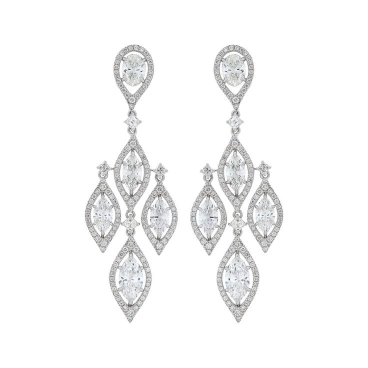 Nirav Modi 18K white gold and diamond earrings, price upon request, niravmodi.com.-Wmag