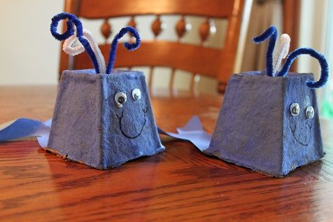 Whale Craft #kidscraft #eggcarton #upcycle
