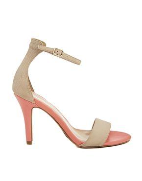New Look Stylish 4 Cream Heeled Sandals