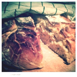 Homemade honey-bread from a recipe by Lorraine Pascale