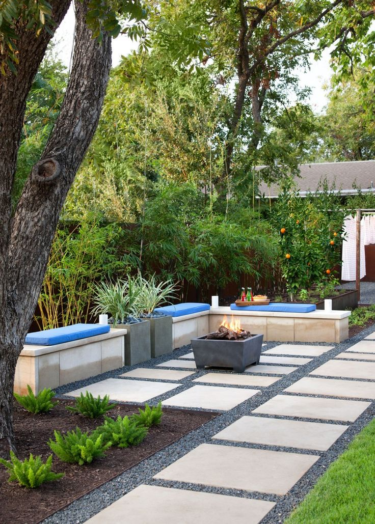 25 best ideas about concrete backyard on pinterest for Garden area ideas
