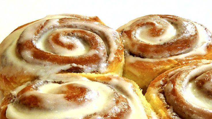 Синнабон / Cinnabon - нежнейшие булочки с корицей. Пошаговый рецепт.