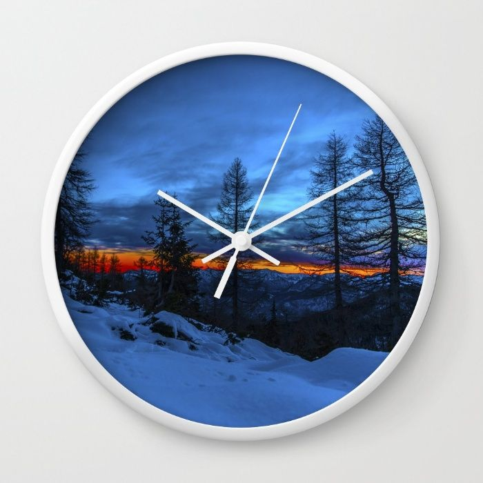 Warm Streak 1 Wall Clock by Mixed Imagery | Society6
