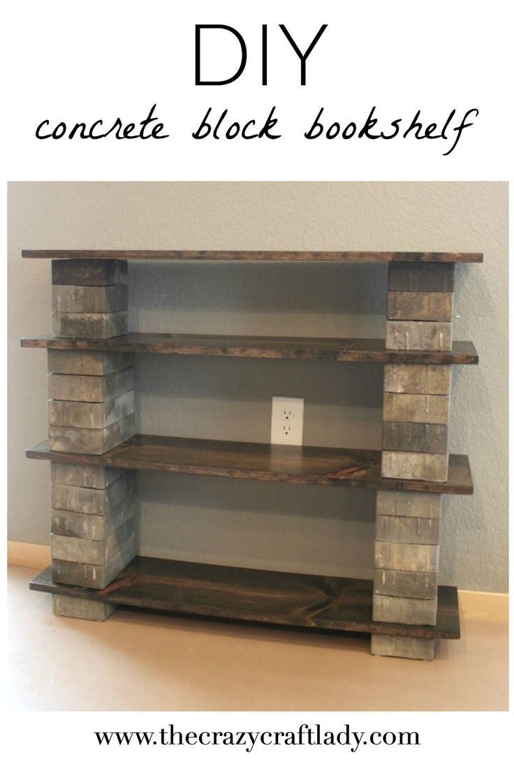 jewelry companies This concrete block bookshelf that is stylish  inexpensive  and easy to make in an afternoon  It  s a great way to add permanent or temporary storage to any space