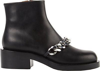 We Adore: The Laura Chain-Link Ankle Boots from Givenchy at Barneys New York