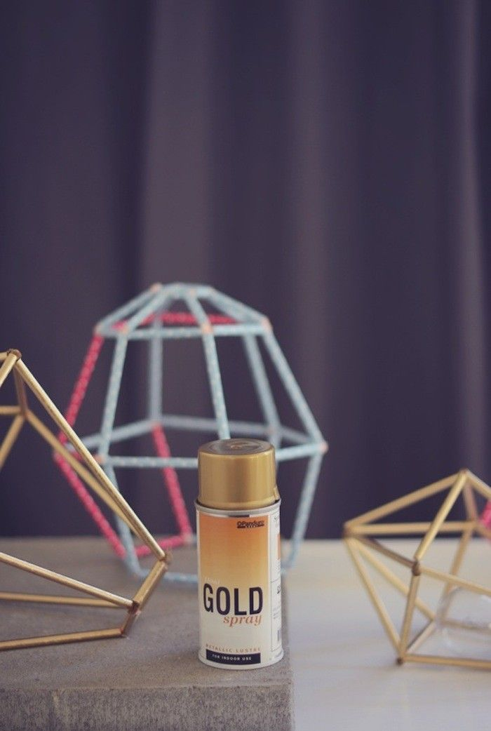 DIY Diamond Straw Lampshade I Remodelista