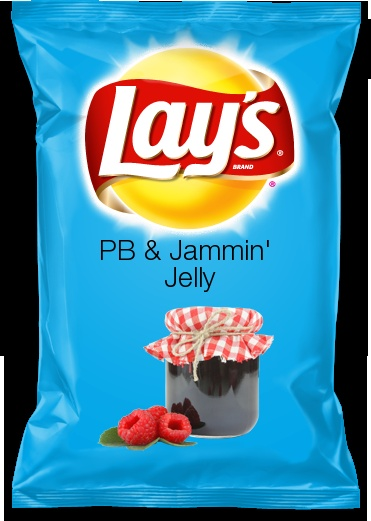 PB & Jammin' Jelly - my Lay's potato chip flavor idea! Would you eat this?