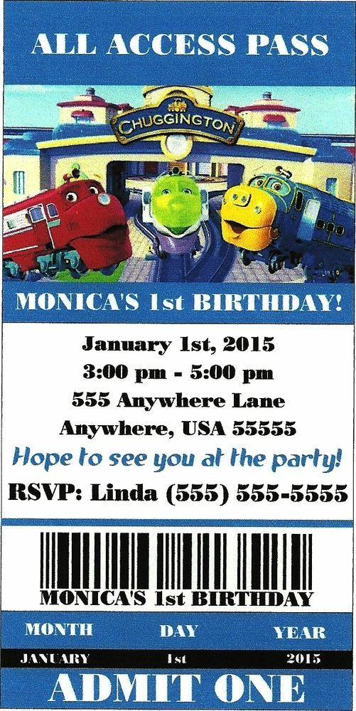 Chuggington party invitations