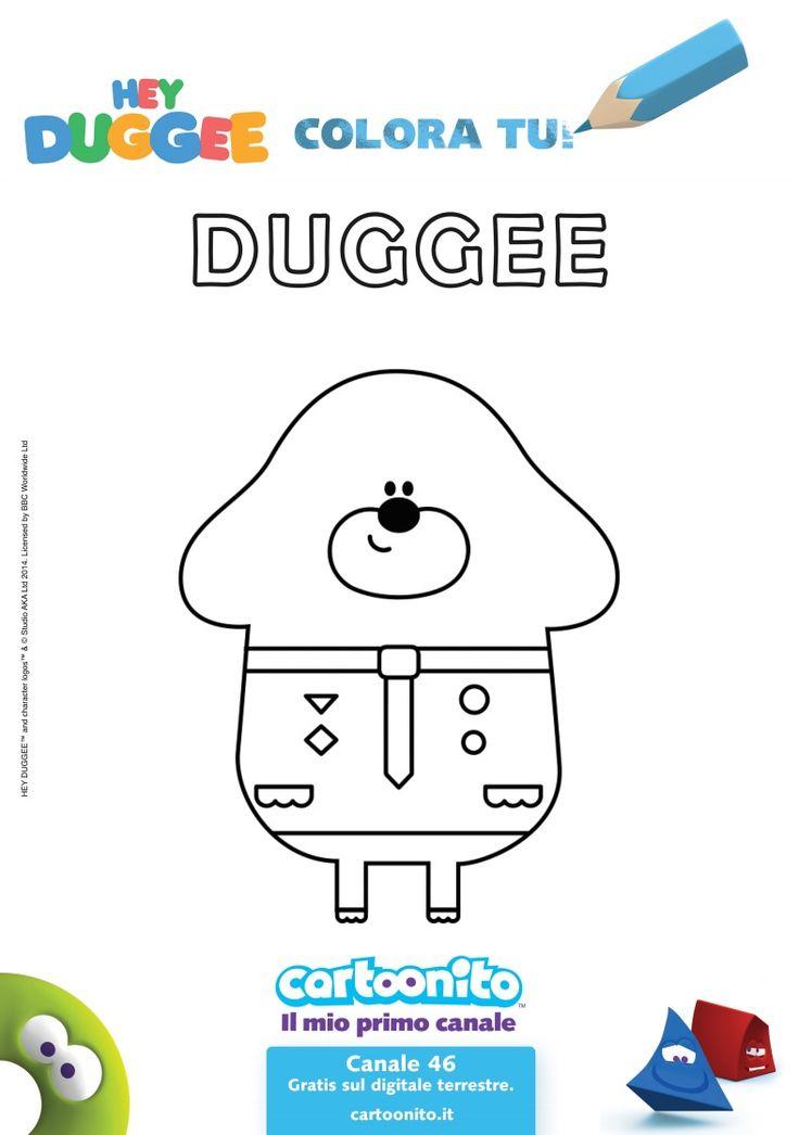 Stampa e colora il simpatico cagnolone Duggee.