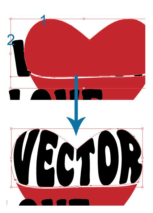 Illustrator Tutorial: Warp Text Inside A Heart Shape | Vector Diary
