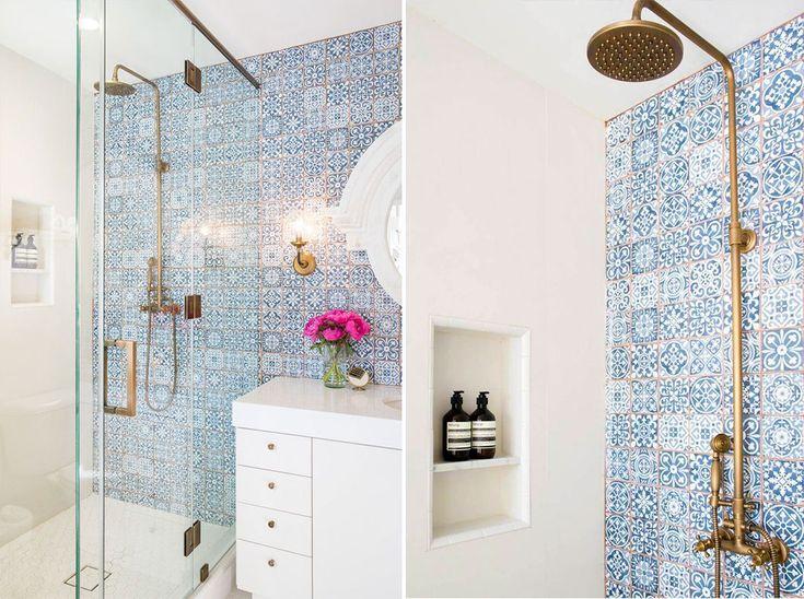 Oltre 25 fantastiche idee su piastrelle blu su pinterest for Arredo bagno mattonelle