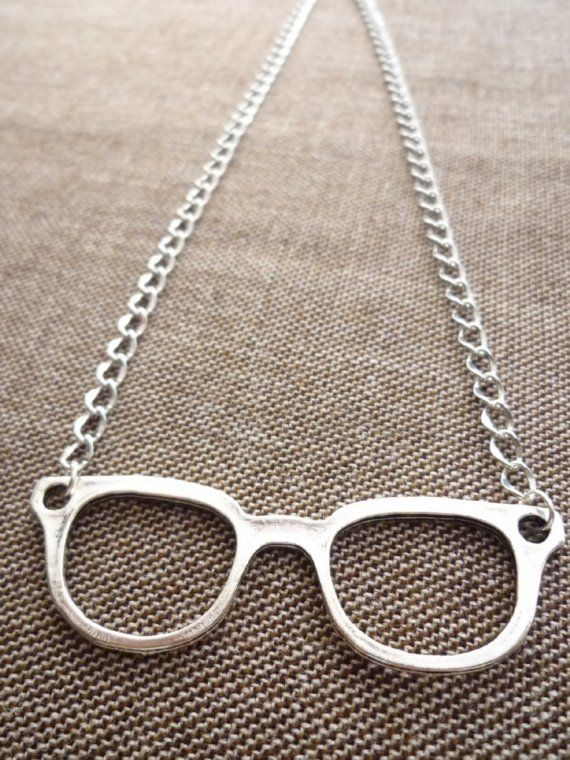 Cute glasses necklance