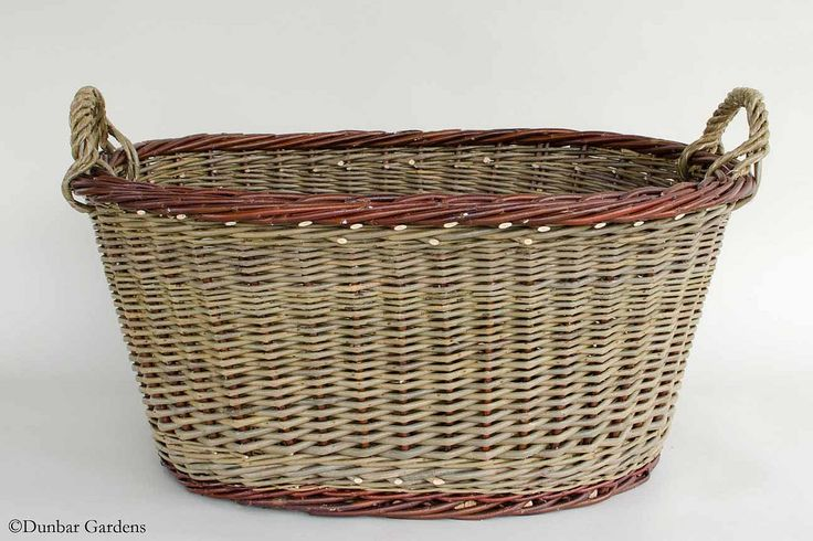 large oval laundry willow basket