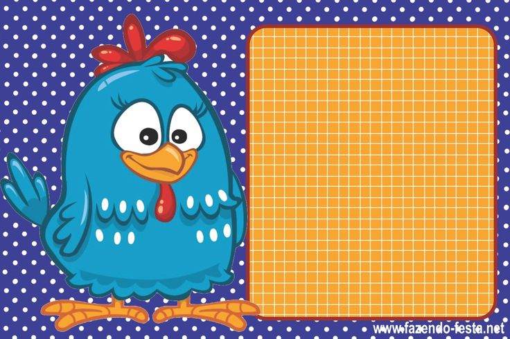 Convite da galinha pintadinha. Para editar e imprimir: http://fazendo-festa.net/convites-para-imprimir/convites-para-editar-e-imprimir-da-galinha-pintadinha/