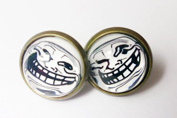 Meme Collection Earrings   Troll face by boysenberryaccessory, $8.00