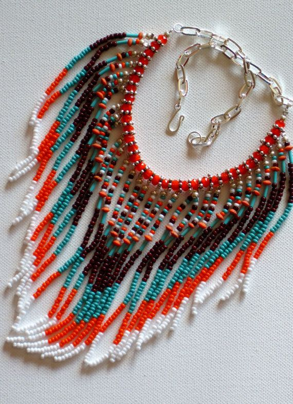 Native American inspired tribal necklace by MontanaTreasuresbyMJ