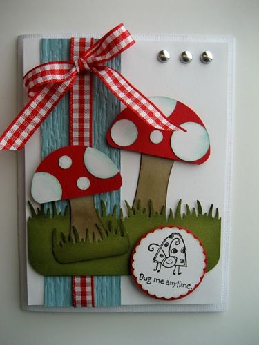 "Mushroom card.. but you could use this as a man's card.. ""What a Fun-gi""  haha"