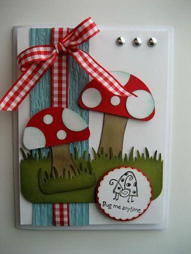 "Mushroom card.. but you could use this as a man's card.. ""What a Fun-gi""  haha"