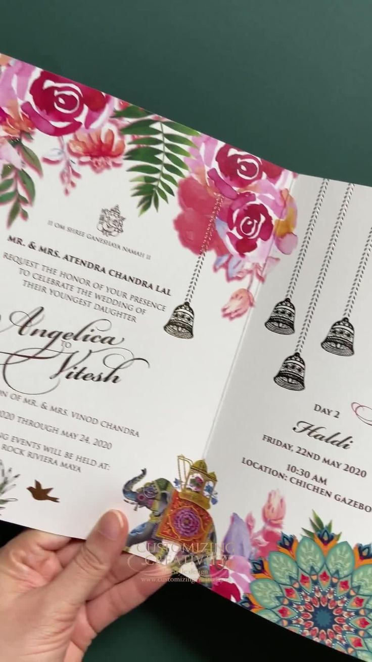 Luxury indian wedding invitation cards for your royal
