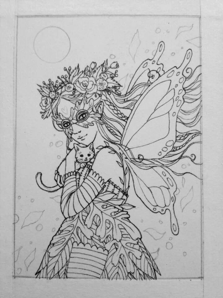 Faerie Coloring Pages Pinterest Faerie Coloring Pages