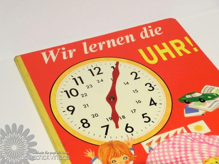 Wir lernen die Uhr- Pestalozzi Kinderbuch 70er J. von OberSchick - Vintage auf DaWanda.com