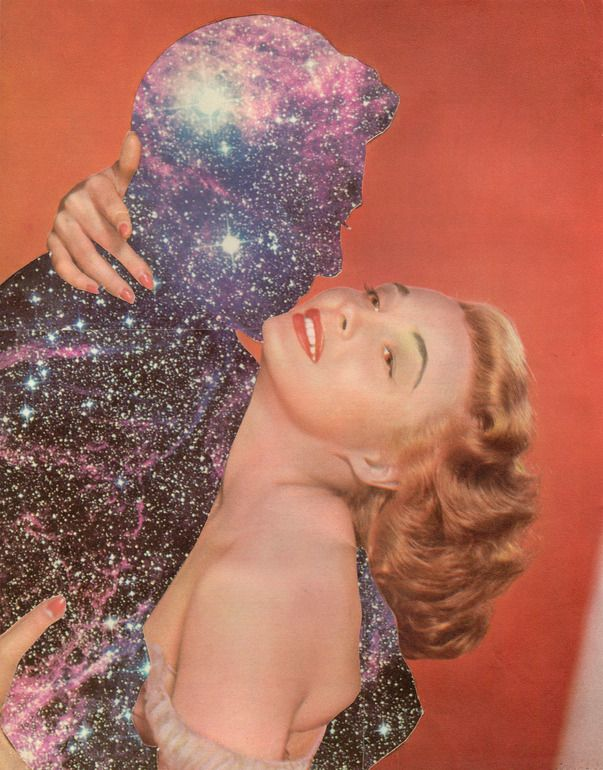 "Saatchi Online Artist: Joe Webb; Photomontage, 2011, Assemblage / Collage ""Antares and Love #2"""