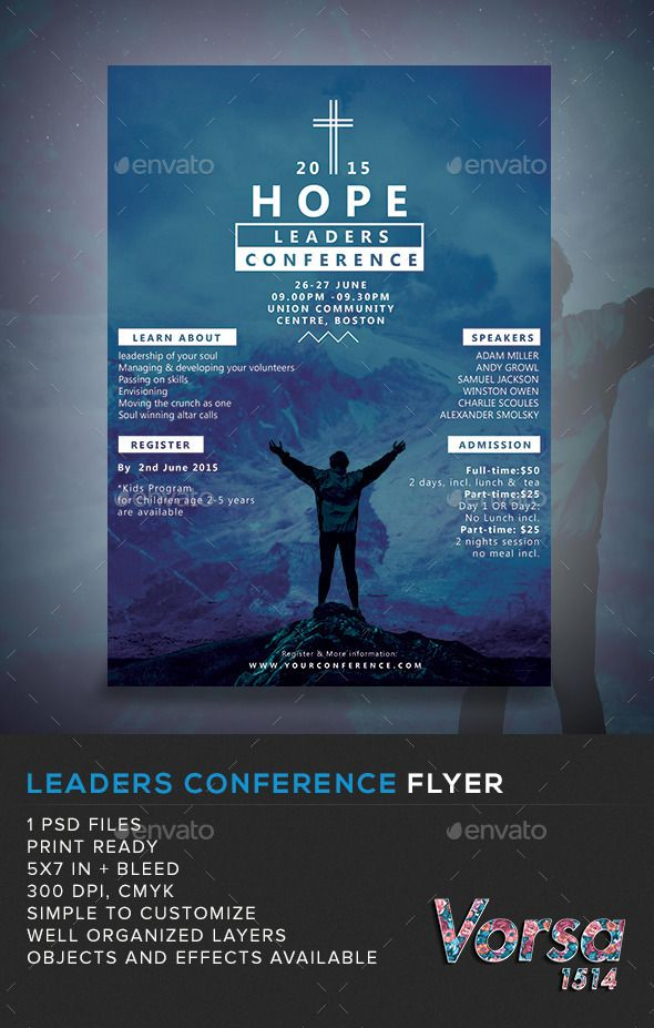 leaders Conference Flyer — Photoshop PSD #cross #conference • Available here...