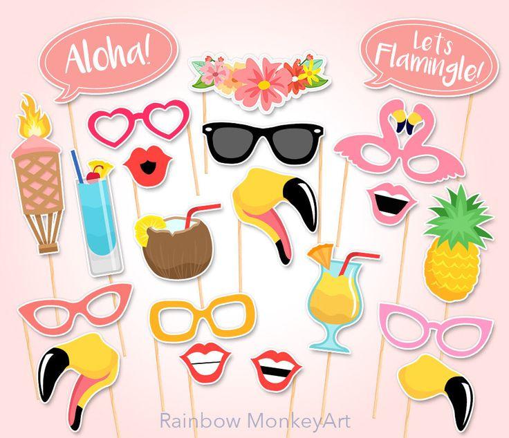 Printable Flamingo Party Photo Booth Props - flamant rose Photobooth accessoires - accessoires imprimables Flamingo - Flamingle parti - rose Tropical Party par RainbowMonkeyArt sur Etsy https://www.etsy.com/ca-fr/listing/273714214/printable-flamingo-party-photo-booth