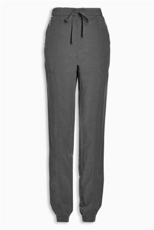 Grey Tencel® Linen Joggers