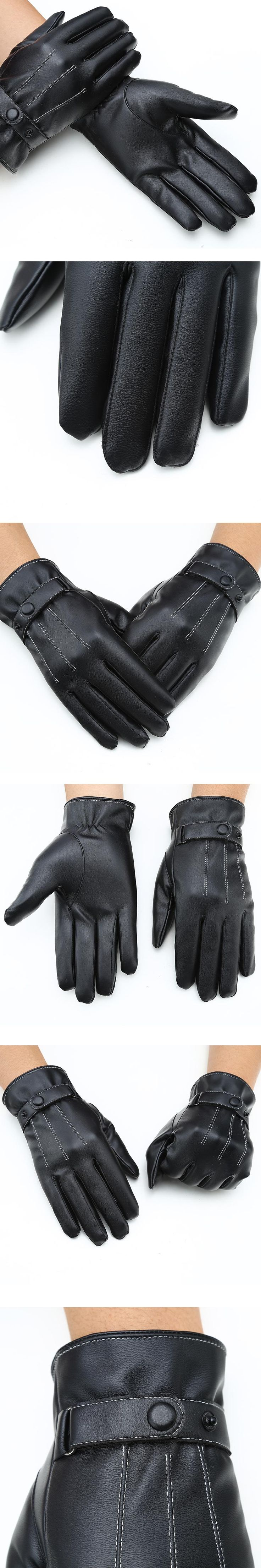 Mittens Keep Warm Winter Gloves Driving Men's Leather Gloves Touch Screen Gloves for Iphone for Sumsung Smart Phone for ipad