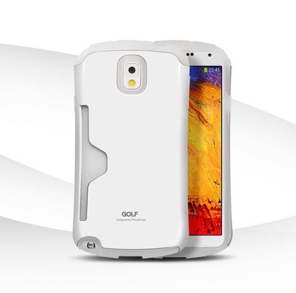 Golf Air Card Storage Strap Hole Case for Galaxy Note 3