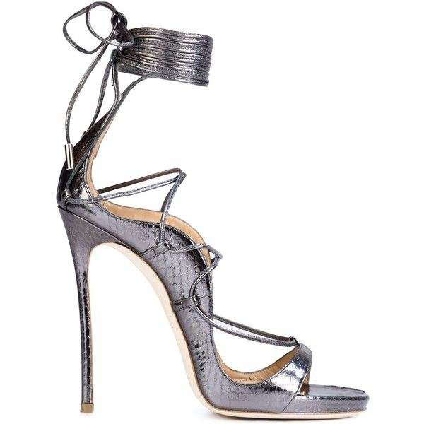 Dsquared2 \'Riri\' Sandals (£680) ❤ liked on Polyvore featuring shoes, sandals, genuine leather shoes, dsquared2 shoes, stiletto high heel shoes, open toe stilettos and leather sandals