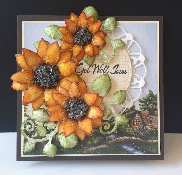 Sunflower Get Well by DJRants - Cards and Paper Crafts at Splitcoaststampers