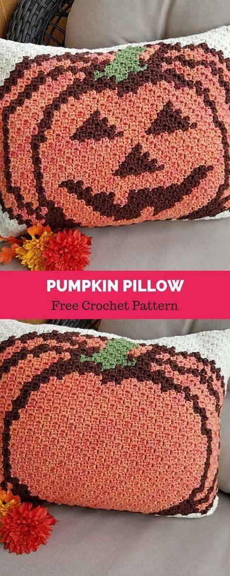 Pumpkin Pillow Free Crochet Pattern Crochet Time Pinterest