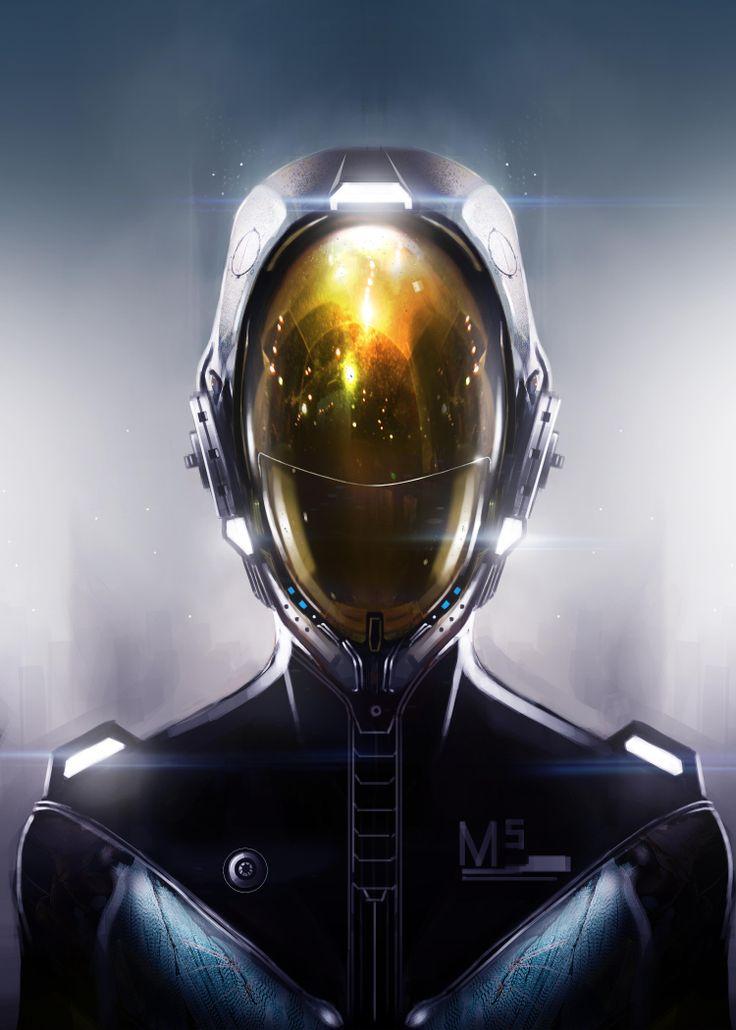 Futuristic, Cyberpunk, Helmet, Future, Sci-Fi, 'Astronaut ...