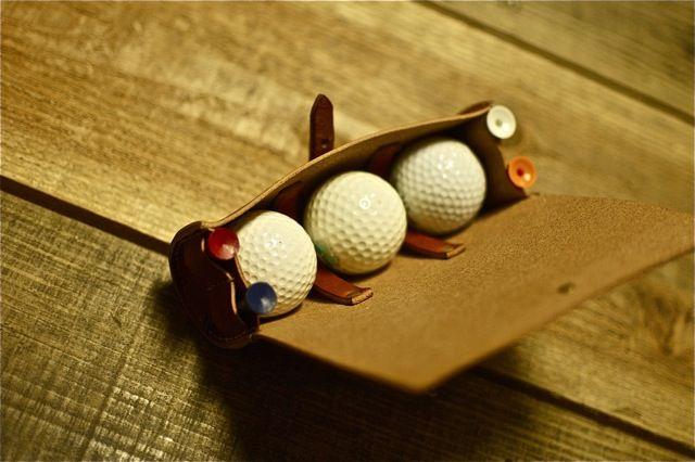 Golf Ball Case 3b Brn ゴルフボールケース3コ用(ブラウン)