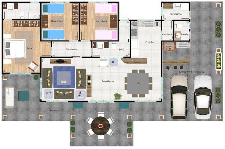009 casa de campo 228 m2 el plano de esta casa de campo for Planos de casas de campo