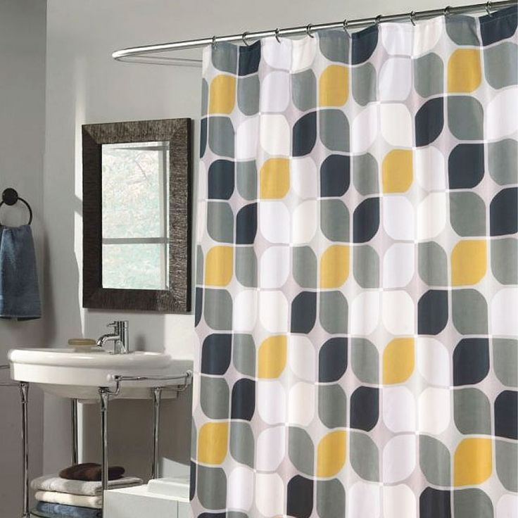 Carnation Home Fashions Metro Extra Long Polyester Fabric Shower Curtain