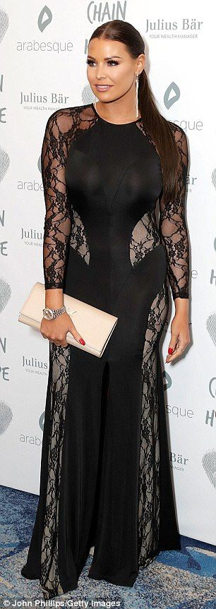 Jessica Wright flaunts her sensational figure in a glamorous gown