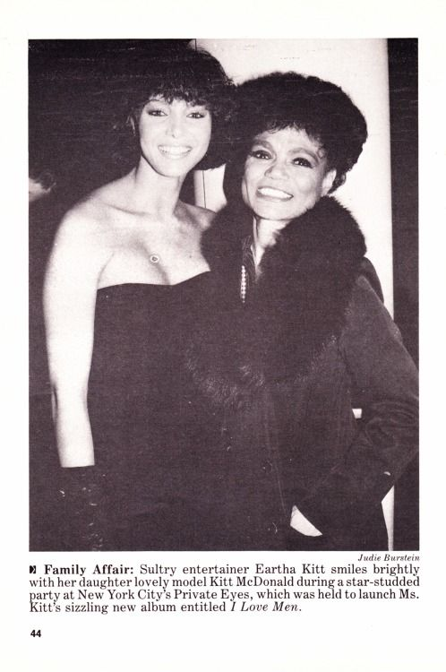 Eartha Kitt w/ daughter Kitt McDonald