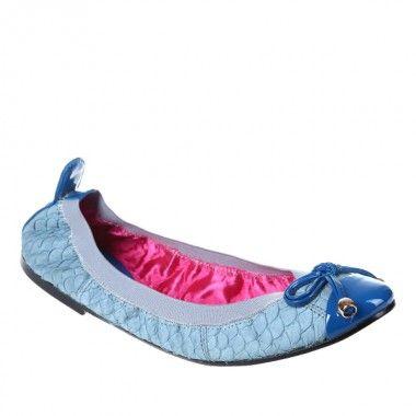 Balerini dama bleu Cafe Noir - Flats, balerina shoes