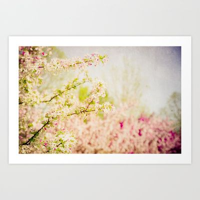 Lovely. :: Country Lane Flowers Art Print by Olivia Joy StClaire